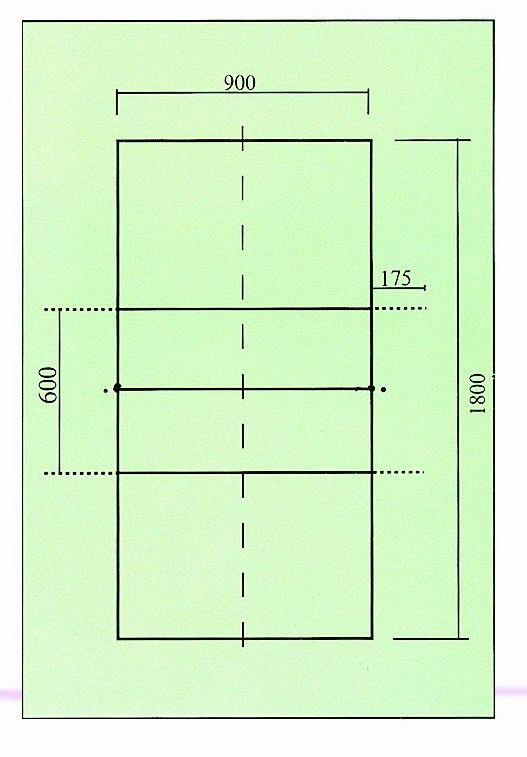 排球场地平面图